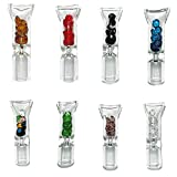 Oweto 8mm Transparent with Diamond Glass Cigarettes Filter Tips Reusable (Random Color, 5 pcs)