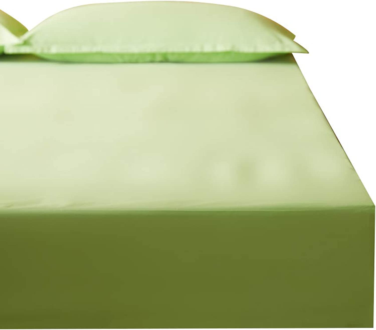 ZHAOHUI Mattress Predector Cotton Waterproof Hypoallergenic Breathable Dust-Proof Anti-mite Ultra-Thin Soft Noiseless, 3 colors, 4 Sizes (color   Green, Size   200X220cm)