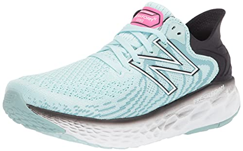 Contemporary Steadiness Females's New Foam 1080 V11 Operating Shoe, Faded Blue Chill/Black, 10.5 Wide thumbnail