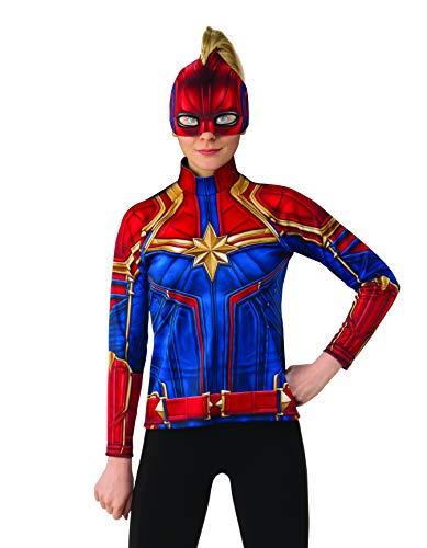 Rubies - Disfraz Oficial del Capitán Marvel Hero Kit, Camiseta y Diadema para Mujer Adulta