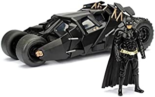 Jada- Batmóvil Coche Metal 2008 El Caballero Oscuro 1:24 coleccionismo, Color negro (253215005)