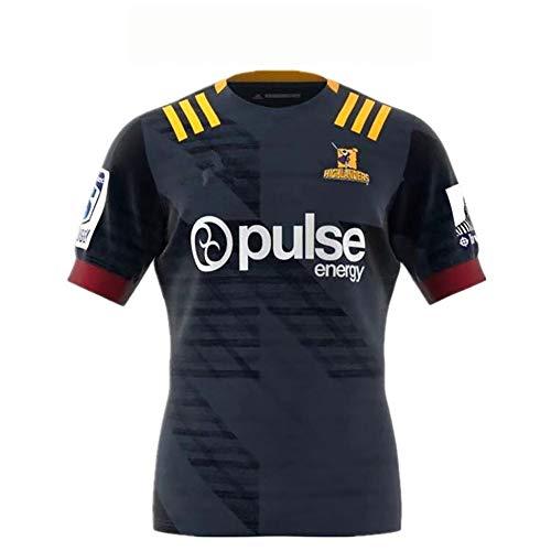 LQWW NRL Jersey Super League, Jefe, Highlander, Cruzado, versión de fanáticos bordado (color: Crusaders FC, Talla: 3XL)