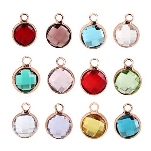 SUPVOX 12 ciondoli in cristallo per gioielli che fanno accessori colorati fai da te (Colore casuale)
