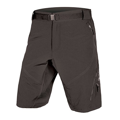 Endura Hummvee Mountain Bike Baggy Cycling Short II with Liner (Black, Large)