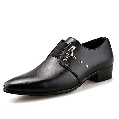 Heren Jurk Schoenen Heren Slip Op Stijl Oxford Schoenen Voor Heren Formele Moderne Zakelijke Bruidsjurk Schoenen PU Lederen Elastische Koord Metalen Decor Punt Teen Oxford Schoenen Duurzame oxford schoenen