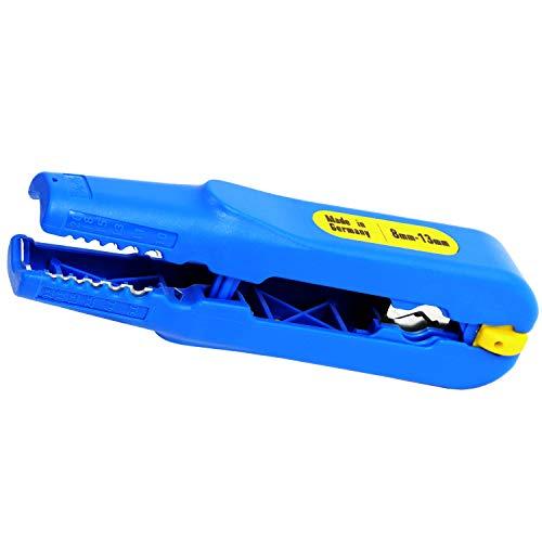S&R Abisolierer, Kabelentmanteler Entmanteler/MADE IN GERMANY/für Kabel-Durchmesser 8-13mm (3/16' - 1/2') und Querschnitt 0,5-6 mm² (AWG 20-10) Abisolierwerkzeug für Elektriker
