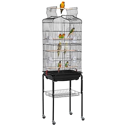 Yaheetech Cage Oiseaux Volière Portable Toit Ouvrable...