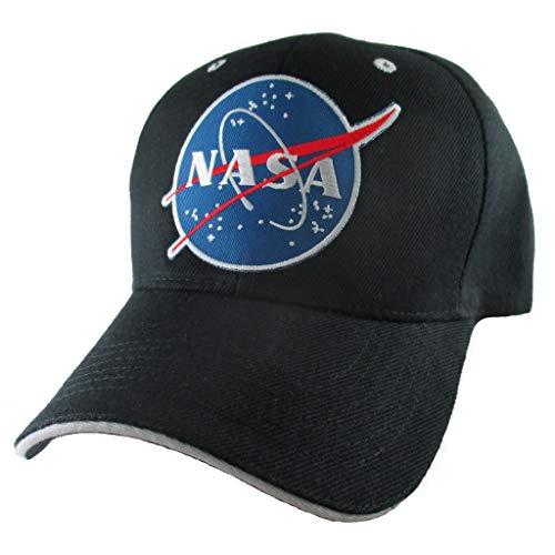 AffinityAddOns Black NASA Hat for Men, Astronaut Patch Baseball Ball Cap