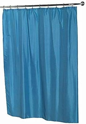 "Ben & Jonah Lauren Dobby Fabric Shower Curtain, 100% Polyester, Size 70""X72"", Color Light Splash Collection by Ben&Jonah, Lt Blue"