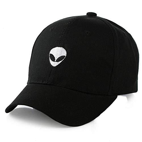 Yogwoo Nueva Maldita Gorra De BéIsbol del Bordado del Extranjero,Sombrero Al Aire Libre Ajustable De Los Pares del Sombrero del AlgodóN Black