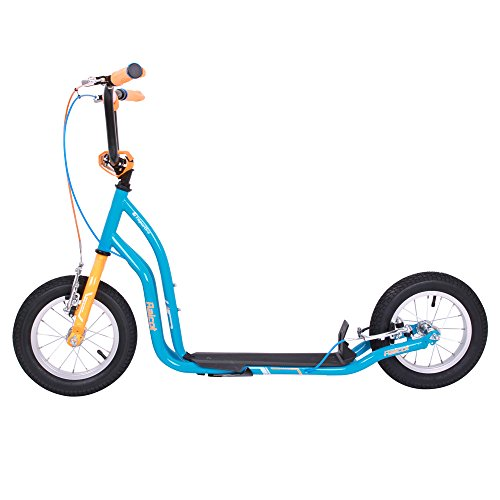 WORKER Tretroller Raicot SE 12 Zoll Scooter blau-orange