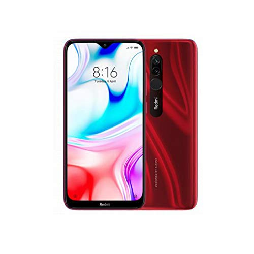 Xiaomi Redmi 8 Smartphone 4GB RAM 64GB ROM Snapdragon 439 10W Carga rápida 5000 mah Batería Celular Rojo