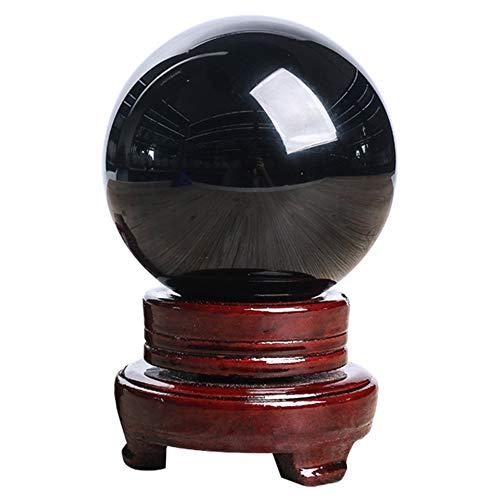 Esfera de Obsidiana Negra 80MM - Piedra de Curación Natural + Base