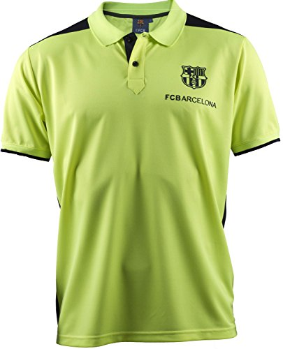 Polo FC Barcelona–Collezione ufficiale FC Barcellona–Taglia adulto uomo, giallo, M