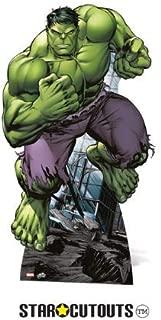Marvel Star Cutouts Avengers Life Size Cutout of The Hulk 176cm Tall 94cm Wide. Comic Artwork