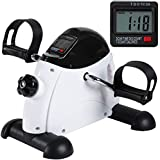 GOREDI Pedal Exerciser Under Desk Bike – Portable Mini Exercise Peddler for Arm and Legs Workout, Stationary Cycle for Home & Office.