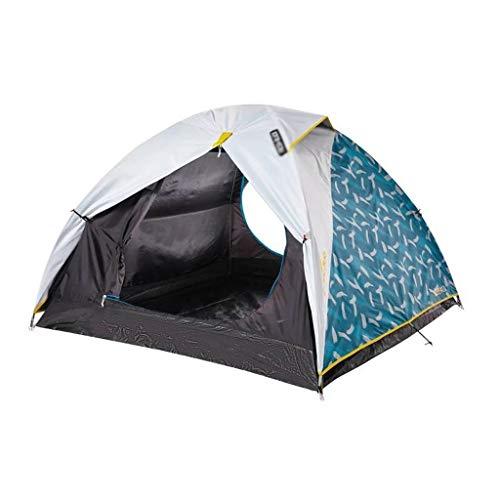 Utilisation multiple Sports de plein air Tente Camping Épaississement extérieur Deux Crème solaire anti-pluie Trous de ventilation intérieure respirante coupe-vent Tente pliante Équipement d'extérieur