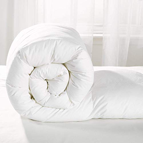 Home & Bath Co. Luxurious 100% Soft Silky Microfibre Feels Like Down Duvet Quilt All UK Sizes And Togs 4.5 Tog (Single)