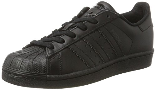 adidas Unisex-Kinder Superstar Foundation Sneaker, Schwarz (Core Black), 37 1/3 EU