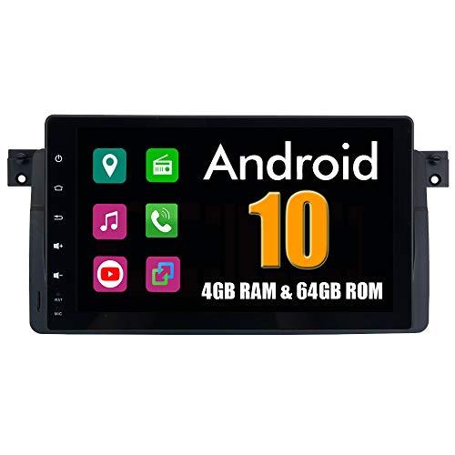 RoverOne 9 Pulgadas Sistema Android para BMW Serie 3 E46 M3 318i 320i 325i 328i Radio de Coche con GPS navegación estéreo Bluetooth...