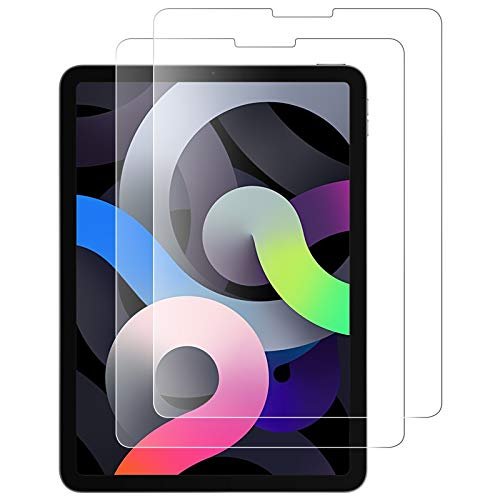 SUPTMAX Screen Protector for iPad Air 4th Generation [Anti-Scratch] iPad Air 4 Screen Protector Glass [Super Clear] iPad Air 4 Tempered Glass Screen Protector (2 Packs)