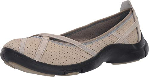 Clarks Women's Berry Loafer Flat, Stone, 85 M US