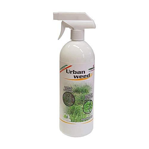 Turfmaster Urban Weed – Disseccante Spray, 1L Eco-SOSTENIBILE per la rimozione Naturale di Erbacce e vegetazione indesiderata, Senza Bisogno di GLIFOSATE o DISERBANTI, Pronto all'Uso