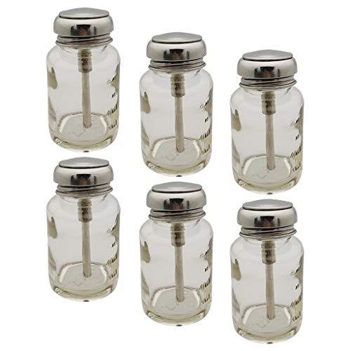 SDENSHI 6 Pièces 80ML Démaquillant Presse Bouteille Vide Liquide Pompe Distributeur