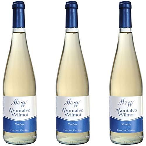 Montalvo Wilmot Vino Blanco Verdejo - 3 botellas x 750ml - total: 2250 ml