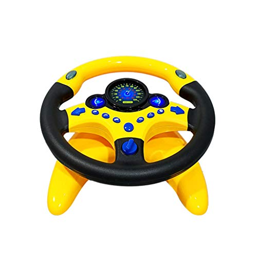 Amhomely® 2019 Kinder-Copilot-Simulationsautolenkrad/Autozubehör/Kinderauto Spielzeug - Kid Copilot Simulierte Lenkradrennfahrer Toy Educational Sounding (Mit Fahrgestell)