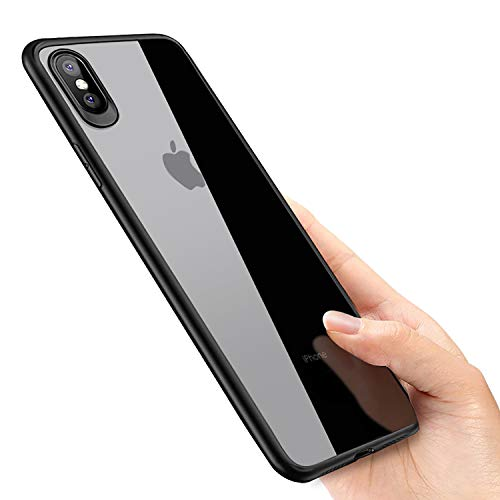 phixilin Cover iPhone XS Max, Silicone iPhone XS Max Case Ultra Sottile Trasparente Cover Bumper TPU AntiGraffio Antiurto Protettiva Custodia Gel per Apple iPhone XS Max Case Cover - Jet Nero