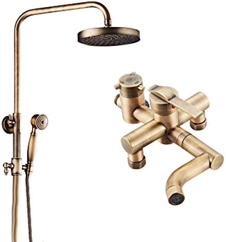 Moderne Chrom Duschkopf Kit Retro Kupfer Wasserhahn Verstellbarer Heber für Badewannenhahn