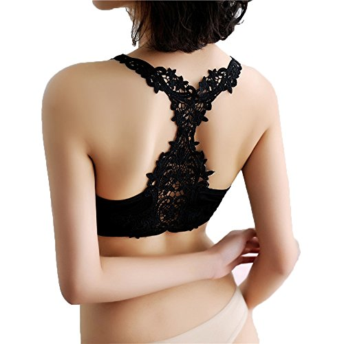 Weibliche Kurze Yoga-Sportweste Damen, Oyedens Frauen Dame Spitze Sport Yoga Athletic Solide Lace Wrap Brustgurt Weste Tops BH