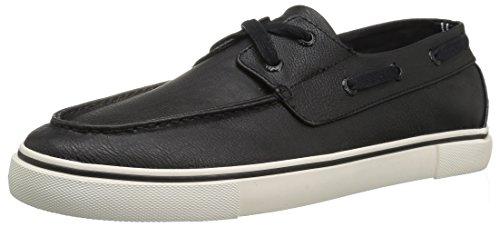 Nautica Men's Galley Boat Shoe, Black Smooth, 10 Medium US