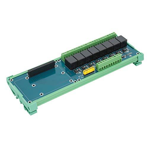 Módulo de placa de expansión de relé de potencia, controlador PLC de placa de extensión de 8 canales y 5 V con aislamiento de optoacoplador para evitar interferencias de circuito, para placas base de