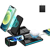 EVIGAL 4 in 1 Wireless Charging Station with Detachable & Magnetic Stand