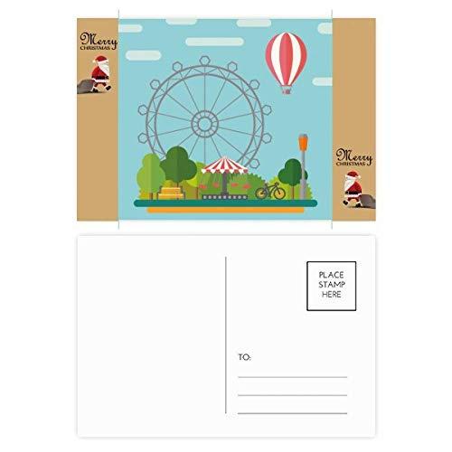 Ferris Wheel Ballon Amusement Park Kerstman Gift Ansichtkaart Thanks Card Versturen 20 stks