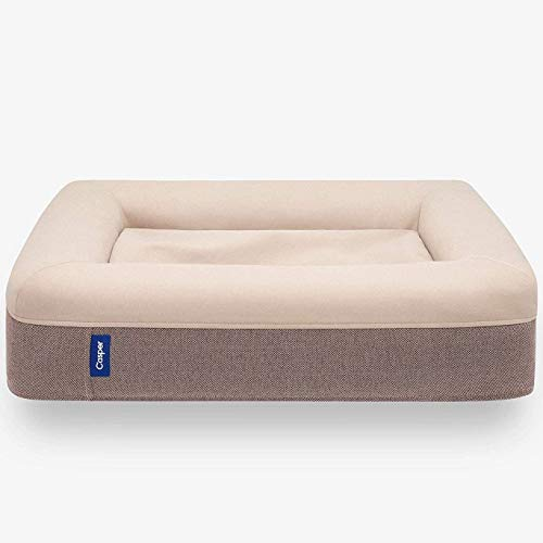 Casper Dog Bed, Plush Memory Foam, Large, Sand