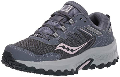 Saucony Women's Versafoam Excursion TR13 Trail Running Shoe, Grey/Orchid, 5