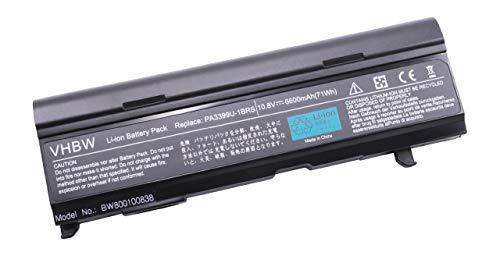 Batterie Haute Performance 6600mAh 10.8V pour Toshiba remplaçant PA3399U-1BAS, PA3399U-1BRS, PA3399U-2BAS, PA3399U-2BRS, PA3400U-1BRS