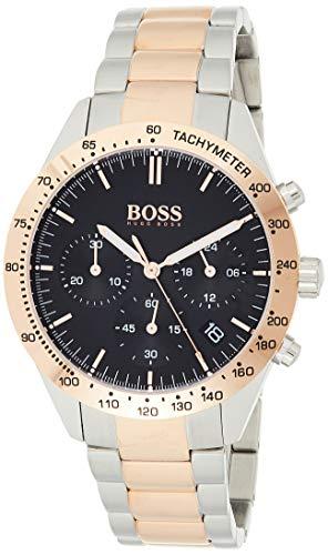 Hugo Boss Unisex Chronograph Quarz Uhr mit Edelstahl Armband 1513584