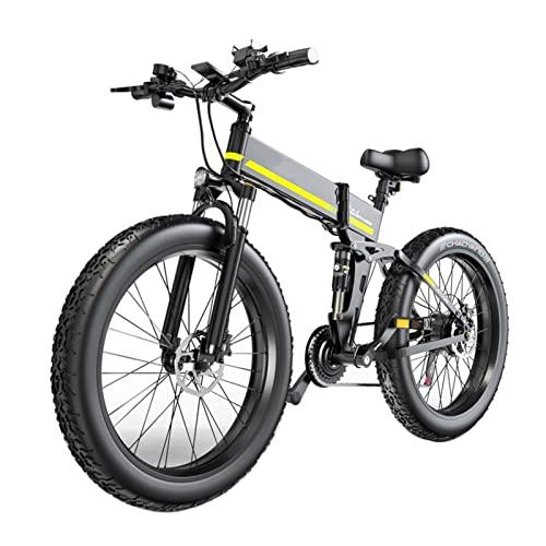 Liu Yu·casa creativa Bicicleta eléctrica Plegable portátil 1000W 48V Bicicleta eléctrica 26 Pulgadas 4. 0 Neumático de Grasa con batería 12. 8A Bicicleta de montaña eléctrica