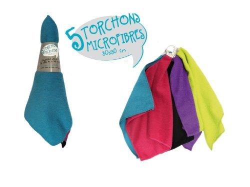 Lot 5 torchons micro fibres 30x30cm - ME2135