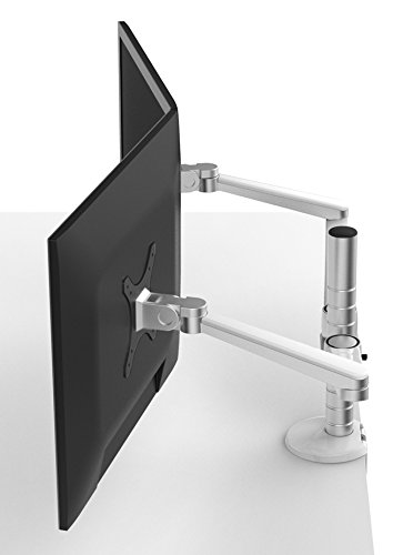 OPUS 2 monitor/laptop arm mat aluminium/wit 25,4-38,1 cm (10-15-Zoll) mat aluminium/wit