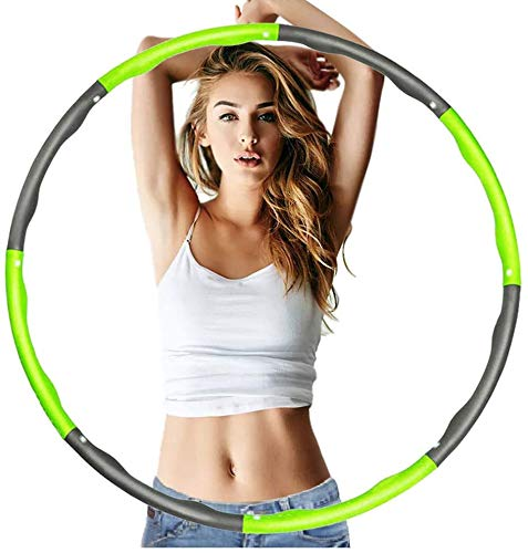 VAGAV Fitness ejercicio Pesado Hula Hoop, perder peso rápido por diversión forma de entrenamiento, quema de grasa modelo saludable, desmontable y diseño ajustable de tamaño (dia.95)