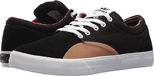 Supra Unisex Chino Skateboarding Sneakers Schuhe, (Schwarz/Tan/Weiß/Kariert), 38.5 EU