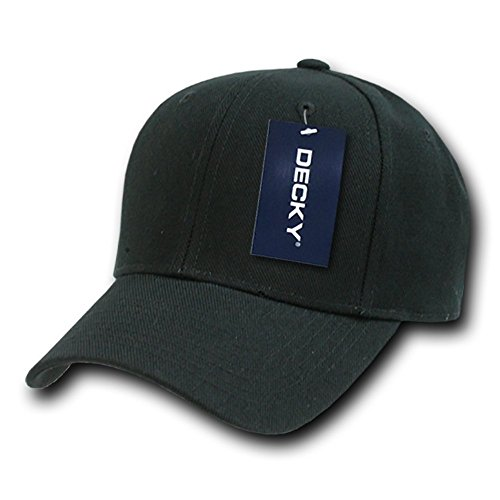 DECKY Fitted Cap, Black, 7 1/4