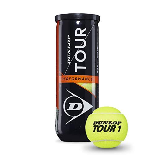 Dunlop Unisex-Adult 601361 Tennisball Tour Performance-3 Ball pet, Gelb, One Size