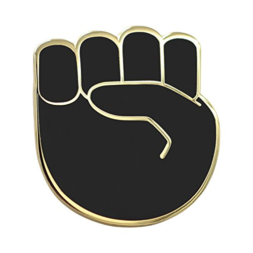 Real Sic Raised Fist Enamel Pin - Black Lives Matter Lapel Pin - Resist Protest Pin - BLM Pin for Jackets, Backpacks, Bags, Hats & Tops (Black)