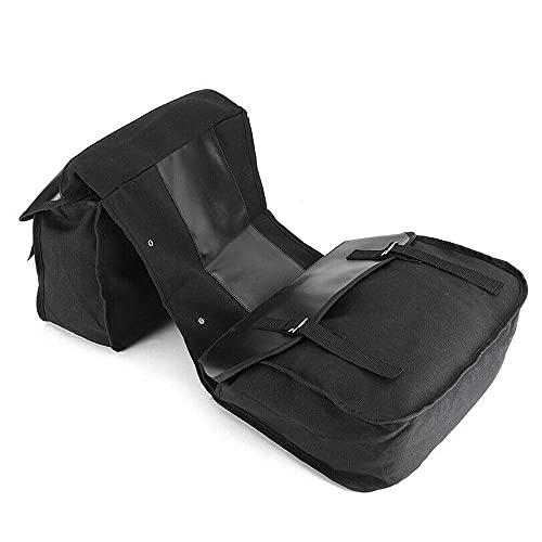 Bolsa de Montar del Lado de la Motocicleta, Bolsa Lateral Impermeable, Bolsa de Equipaje, Negro, 38 * 13 * 28 cm, Bolsa de Montar de Asiento Trasero